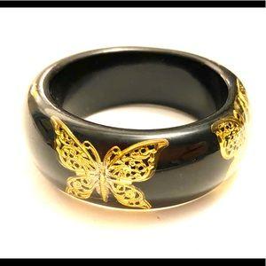 Jewelry - BUTTERFLY Bracelet Black Gold